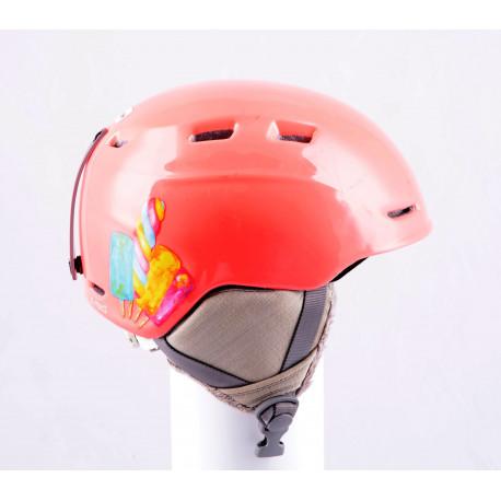 casco de esquí/snowboard SMITH ZOOM JR. pink, ajustable ( condición TOP )