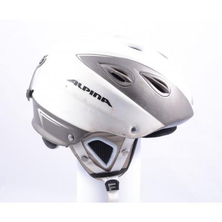 lyžiarska/snowboardová helma ALPINA GRAP, WHITE/grey, nastaviteľná