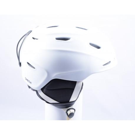 lyžařská/snowboardová helma SMITH ASPECT WHITE, nastavitelná ( TOP stav )
