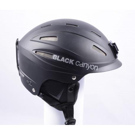 lyžiarska/snowboardová helma BLACK CANYON BLACK ( ako NOVÁ )