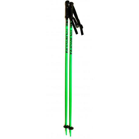 ski poles ITALBASTONI MAGIC GREEN fluoro RACE ( NEW )