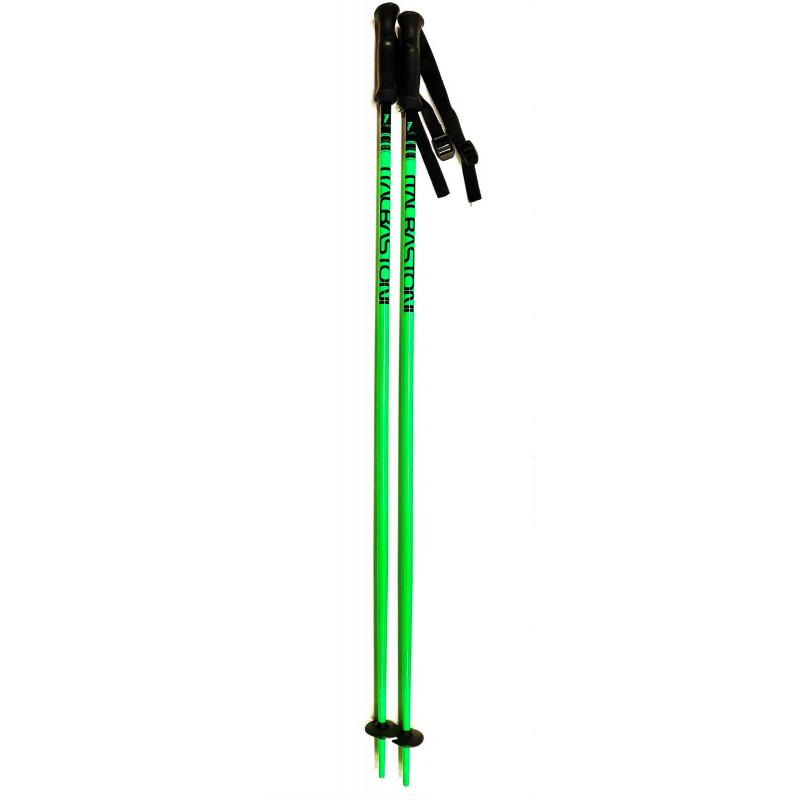 nové lyžiarske palice ITALBASTONI MAGIC GREEN fluoro RACE
