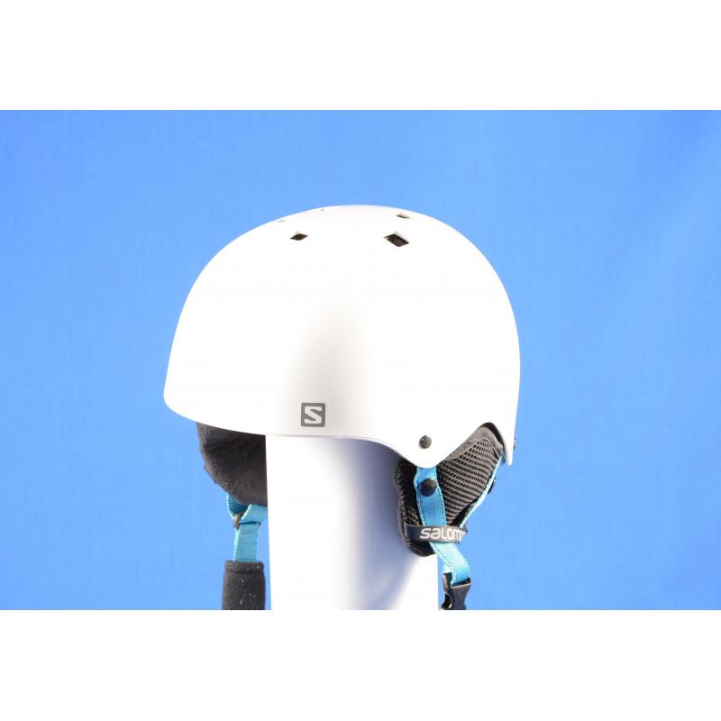 lyžiarska/snowboardová helma SALOMON JIB, WHITE/blue, nastaviteľná ( TOP stav )