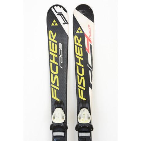 children's/junior skis FISCHER RC4 RACE Jr. BLACK/white jr + Fischer FJ 7