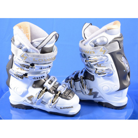 dámske lyžiarky LOWA AC 80, SKI/WALK, AIR system, W adapter, micro, macro, WHITE/grey ( TOP stav )