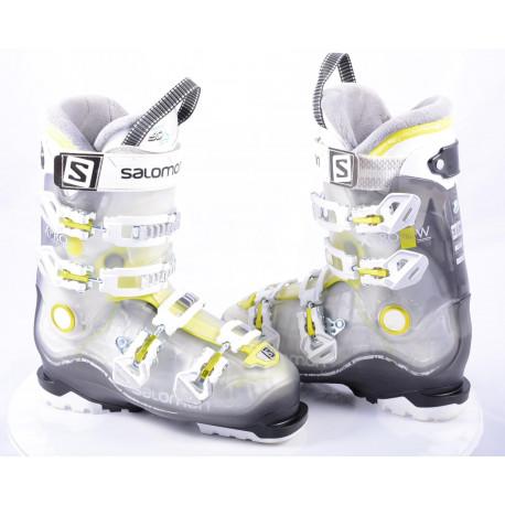 dames skischoenen SALOMON X PRO R80 W, Transp/yellow, CALF adj., MY CUSTOM FIT 3D, micro, macro ( TOP staat )