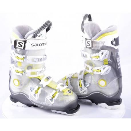 dámske lyžiarky SALOMON X PRO R80 W, Transp/yellow, CALF adj., MY CUSTOM FIT 3D, micro, macro ( TOP stav )