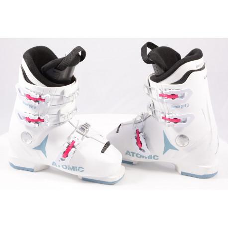 children's/junior ski boots ATOMIC HAWX GIRL 3, 2020, WHITE/denim blue, macro ( TOP condition )