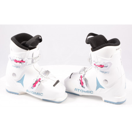 children's/junior ski boots ATOMIC HAWX GIRL 2, 2020, WHITE/denim blue, macro ( TOP condition )