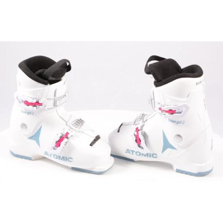 detské/juniorské lyžiarky ATOMIC HAWX GIRL 2, 2020, WHITE/denim blue, macro ( TOP stav )