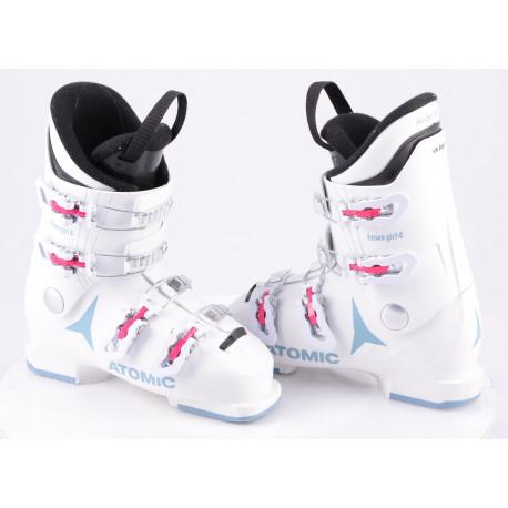children's/junior ski boots ATOMIC HAWX GIRL 4, 2020, WHITE/denim blue, Thinsulate, macro ( TOP condition )