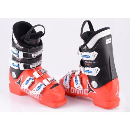 children's/junior ski boots ATOMIC REDSTER JR 4, RED/black, micro, macro, THINSULATE insulation