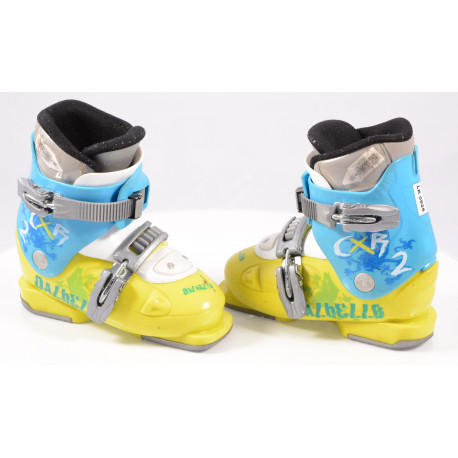 botas esquí niños DALBELLO CXR 2, ratchet buckle, BLUE/yellow ( condición TOP )