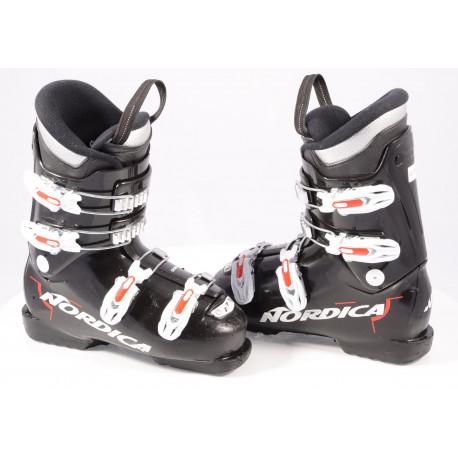 children's/junior ski boots NORDICA DOBERMANN GP TJ 2019, BLACK/white, macro ( TOP condition )