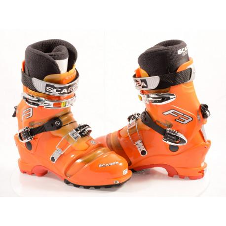 skialpinistické lyžiarky SCARPA F3 THERMO flame, SKI/WALK, Ratchet, VIBRAM, TLT ( TOP stav )