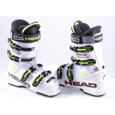 children's/junior ski boots HEAD RAPTOR 50 RACING, macro, WHITE