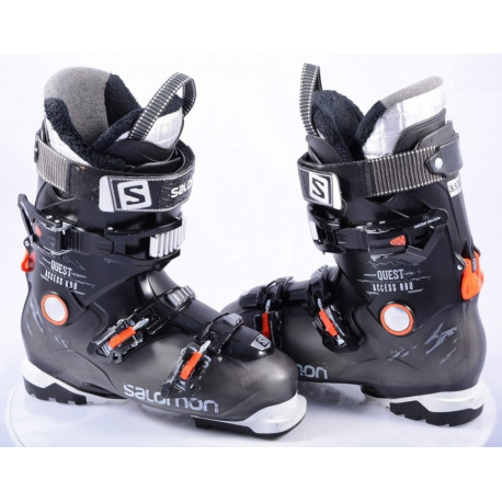 chaussures ski SALOMON QUEST ACCESS R80 BLACK/orange, Ratchet buckle, SKI/WALK, micro, macro ( en PARFAIT état )