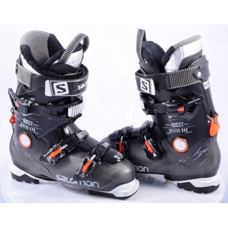 lyžiarky SALOMON QUEST ACCESS R80 BLACK/orange, Ratchet buckle, SKI/WALK, micro, macro ( TOP stav )