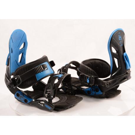snowboard binding NITRO FREESTYLE CUSTOM BLACK/blue, size S/M