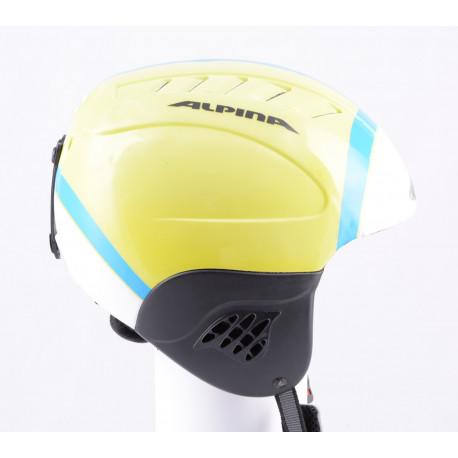 skihelm/snowboardhelm ALPINA CARAT blue/yellow, verstelbaar