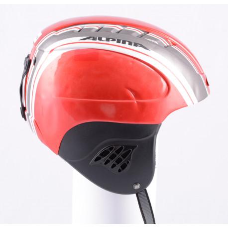 lyžařská/snowboardová helma ALPINA CARAT red/silver line, nastavitelná