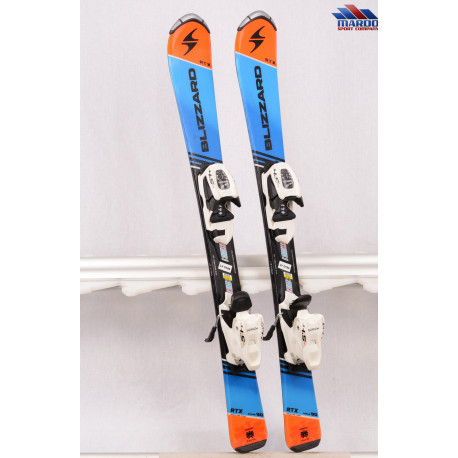 detské/juniorské lyže BLIZZARD RTX junior, 2018, blue/orange + Marker 4.5 white ( ako NOVÉ )