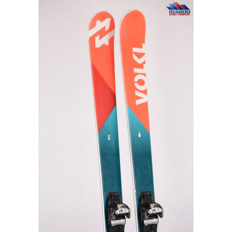 freeride lyže VOLKL KINK 2018, TWINTIP, woodcore, TIP and TAIL rocker + Marker SQUIRE 11