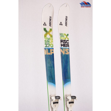 skialp lyže FISCHER X TRANSALP 75,m woodcore + Fischer Ambition 10 + Pásy