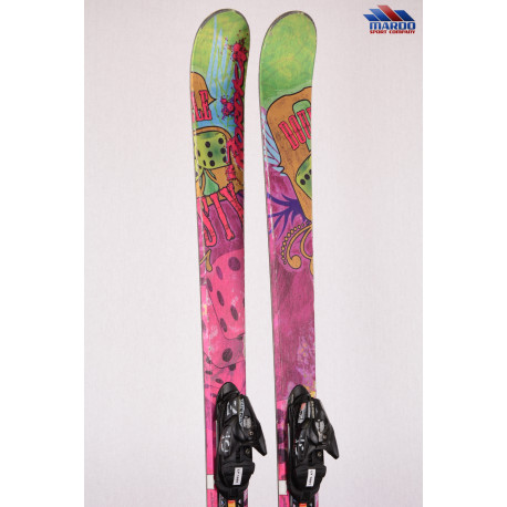 freestyle lyže NORDICA DOUBLE SIX classic mount, purple, woodcore, TWINTIP + Salomon 609