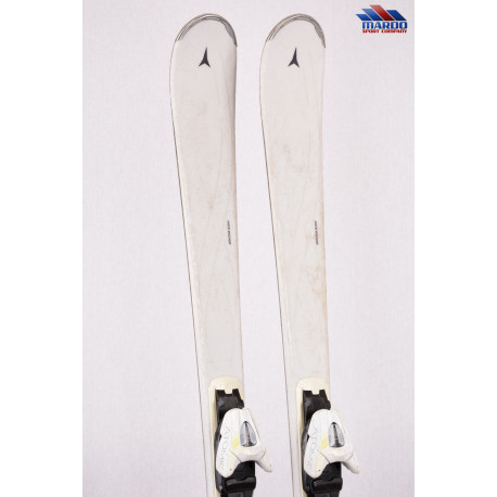 dámske lyže ATOMIC WHITE HEAVEN BEND-X, Piste rocker + Atomic L 10 lithium