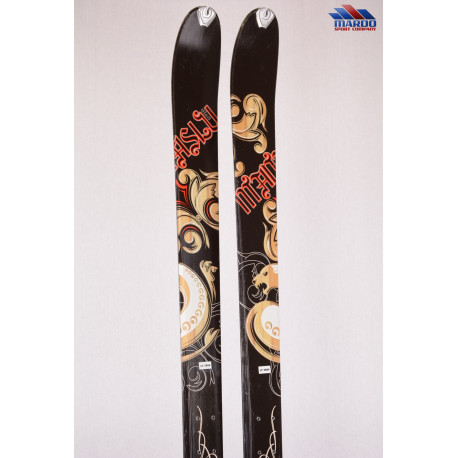 skialp lyže DYNAFIT MANASLU, woodcore, titan, carbon, dual radius - BEZ VIAZANIA ( TOP stav )
