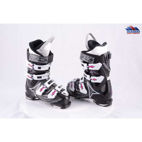 dámske lyžiarky ATOMIC 1.0 90 W, micro, macro, BLACK/grey ( TOP stav )