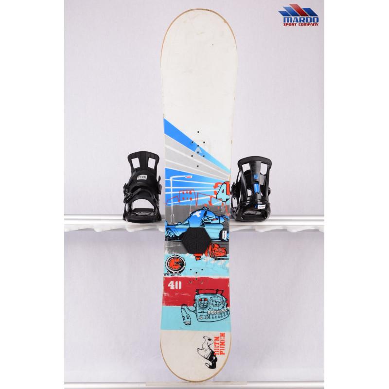 snowboard BURTON PUNCH 40, woodcore, CAMBER, white/blue