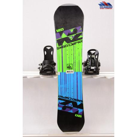 detský/juniorský snowboard K2 CMPNY black/green, woodcore, ROCKER