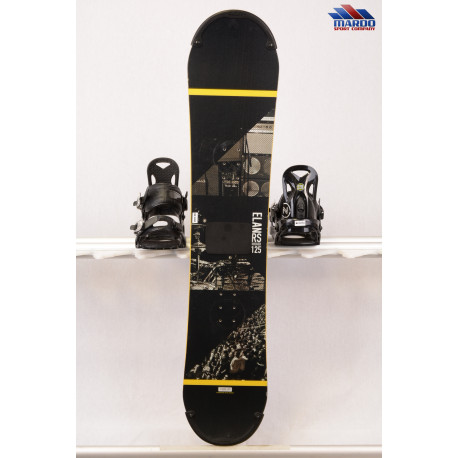 detský/juniorský snowboard ELAN RS ROCKER, black/yellow, woodcore,carbon, handmade, ALL terrain, ROCKER ( TOP stav )