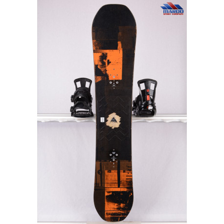 snowboard BURTON RADIUS 2018, black/orange, woodcore, FLATtop, ROCKER ( TOP stav )