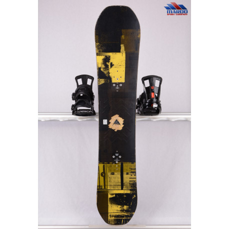 snowboard BURTON RADIUS 2018, black/yellow, woodcore, FLATtop, ROCKER ( TOP stav )