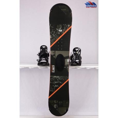 snowboard ELAN EXPLORE ROCKER 2017, black/orange, woodcore,carbon, handmade, ALL terrain, ROCKER