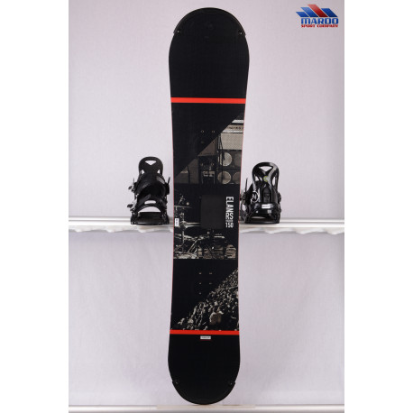 snowboard ELAN RS ROCKER, black/orange, woodcore,carbon, handmade, ALL terrain, ROCKER ( TOP stav )