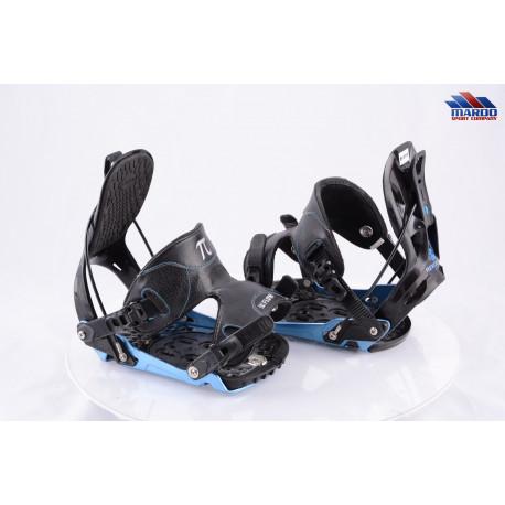 snowboardové viazanie FLOW REVOLVE black/blue, QUICK ENTRY, FASTEC system, size M, L ( TOP stav )