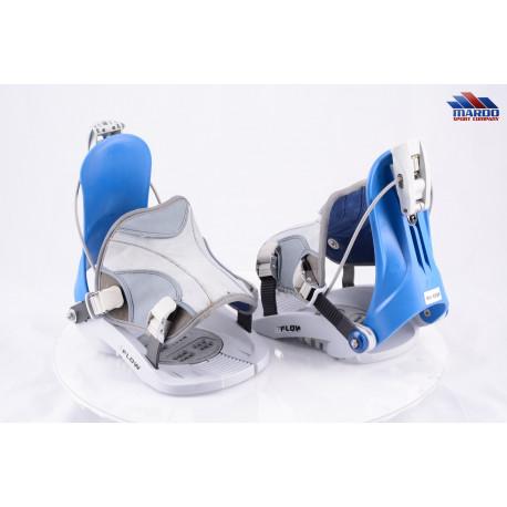snowboardové viazanie FLOW, FASTEC system, grey/blue, size M/L