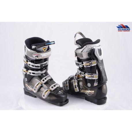 dámske lyžiarky NORDICA SPORTMACHINE 80 W, BLACK/gold, comfort fit, NFS, hygienical, HP slide in, flex 80