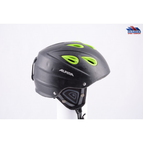 lyžiarska/snowboardová helma ALPINA JUNTA black/green, nastaviteľná