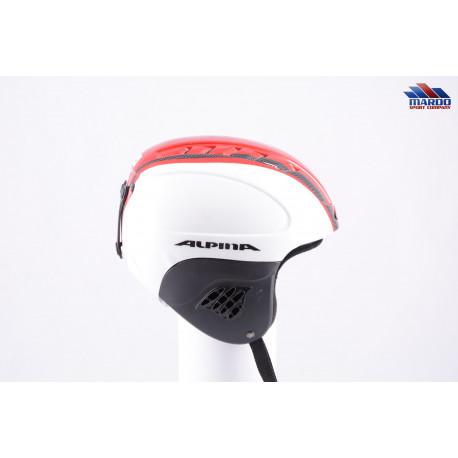 lyžiarska/snowboardová helma ALPINA CARAT white/red line, nastaviteľná