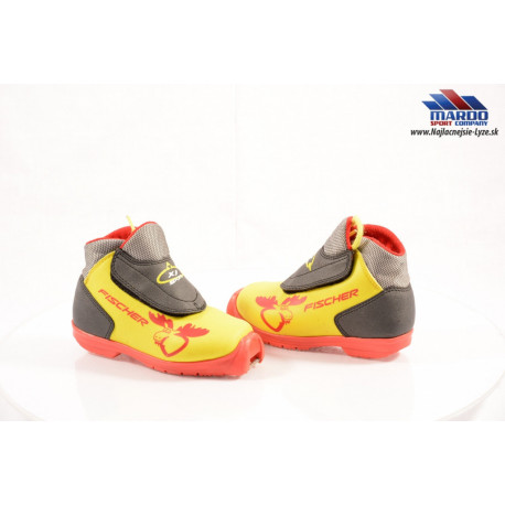 detské bežecké topánky FISCHER XJ SPORT yellow/black, SNS profile ( ako NOVÉ )