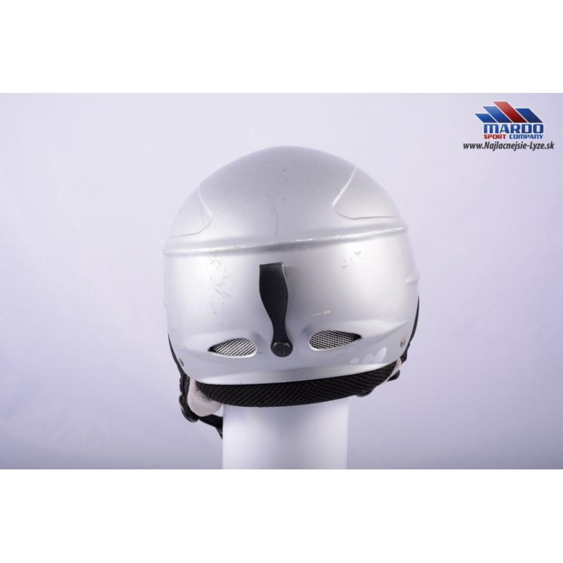 lyziarska/snowboardova helma WED´ze, SILVER, 515g, nastavitelna 52-58cm