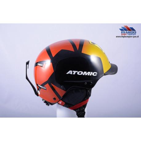 lyziarska/snowboardova helma ATOMIC TROOP SL MARCEL HIRSCHER, PRO 2017, nastavitelna 58-62cm + CHRANIC na sanku ( UPLNE NOVA )
