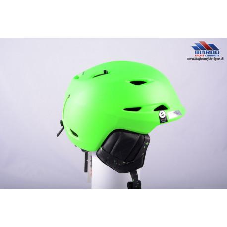 lyžiarska/snowboardová helma GIRO MONTANE green 2018, STACK ventilation, X-STATIC, nastaviteľná ( NOVÁ )