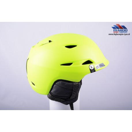 lyziarska/snowboardova helma GIRO MONTANE yellow, 2017, STACK ventilation, X-STATIC, nastavitelna 59-63cm ( UPLNE NOVA )
