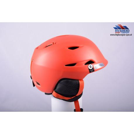 lyziarska/snowboardova helma GIRO MONTANE red, 2017, STACK ventilation, X-STATIC, nastavitelna 52-56cm ( UPLNE NOVA )